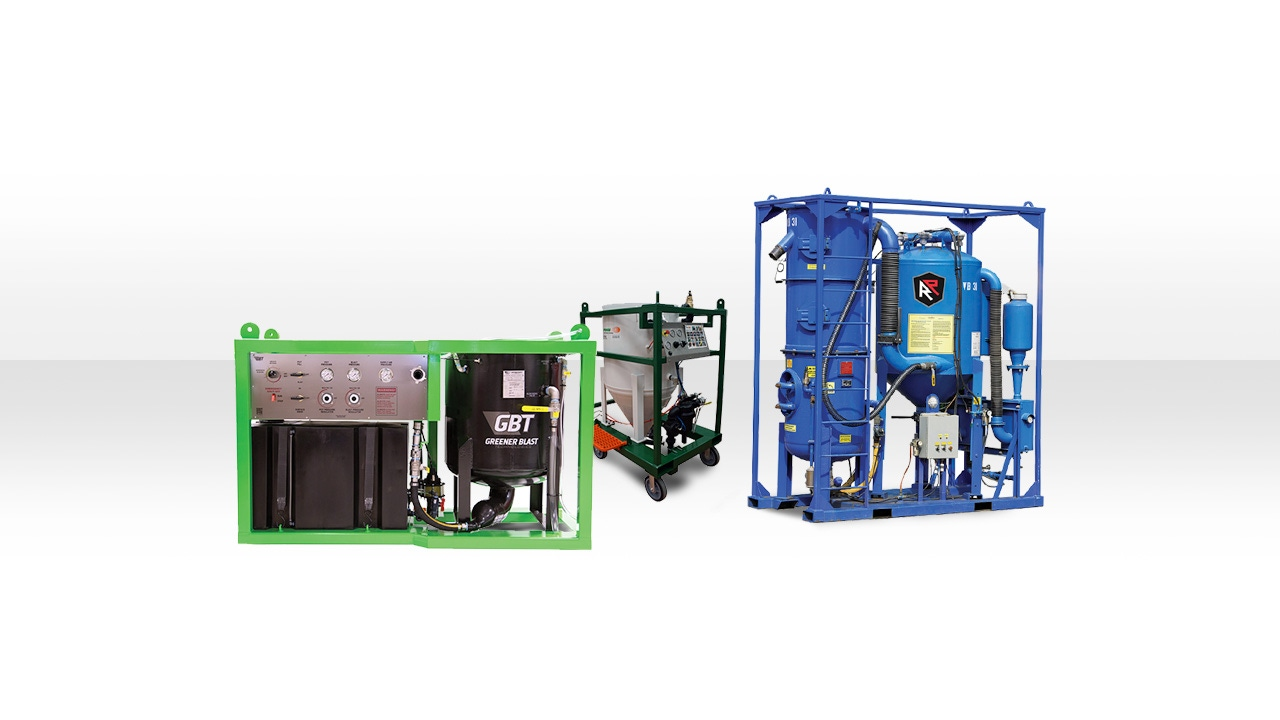 Header Image of an Abrasive Blast Unit and a Greener Blast Unit
