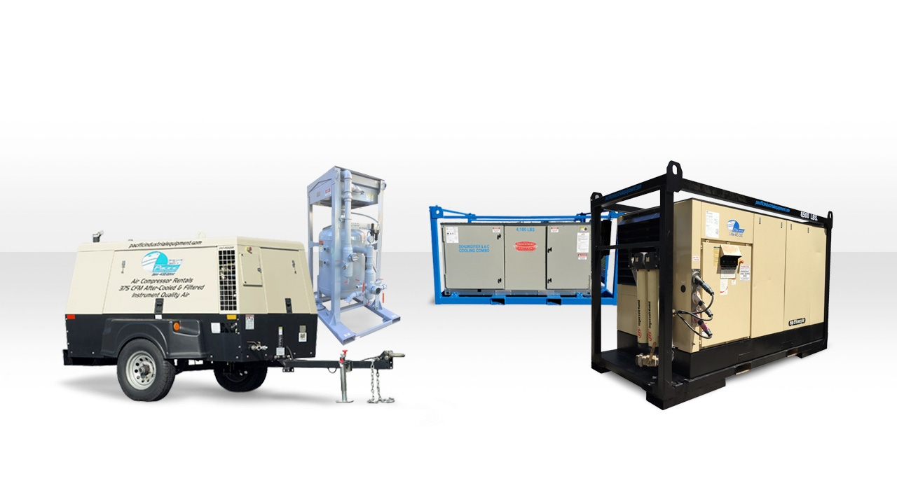 Header Image of a Vessel Vacuum, Dehumidifier and AC Unit, and a Blower