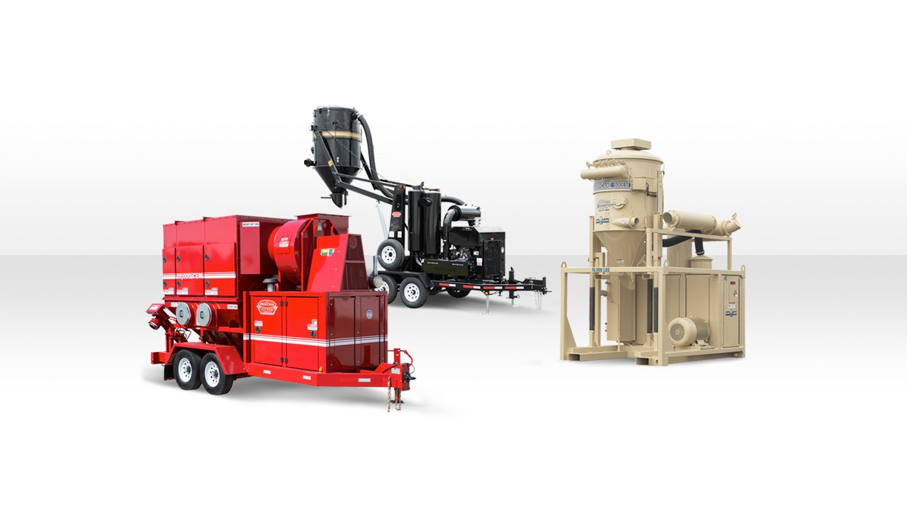 Header Image of a Dust Collector, Blower, and Industrial Vacuum