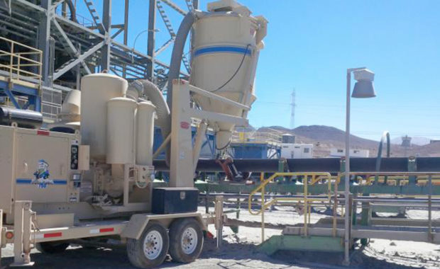 A Industrial Vacuum at a Mining Site Assisting with the Removal of Excess Materials