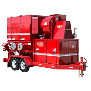 Red Diesel Dust Collector Unit